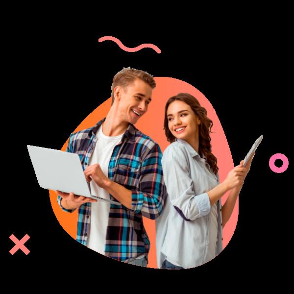 ללמוד אנגלית- זוג צעירים